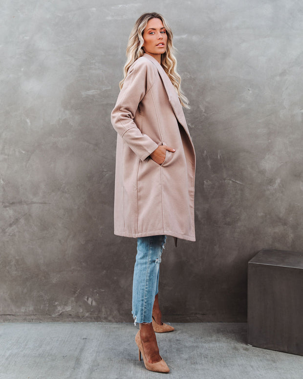 Eastchester Pocketed Coat - Tan view 7
