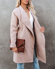 Eastchester Pocketed Coat - Tan view 3
