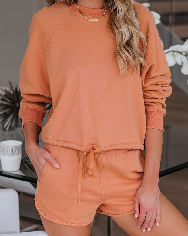Easygoing Cotton Drawstring Sweatshirt - FINAL SALE view 10