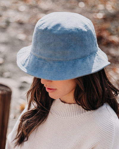 Echo Corduroy Bucket Hat - Dusty Blue