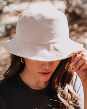 Echo Corduroy Bucket Hat - Light Beige - FINAL SALE view 4
