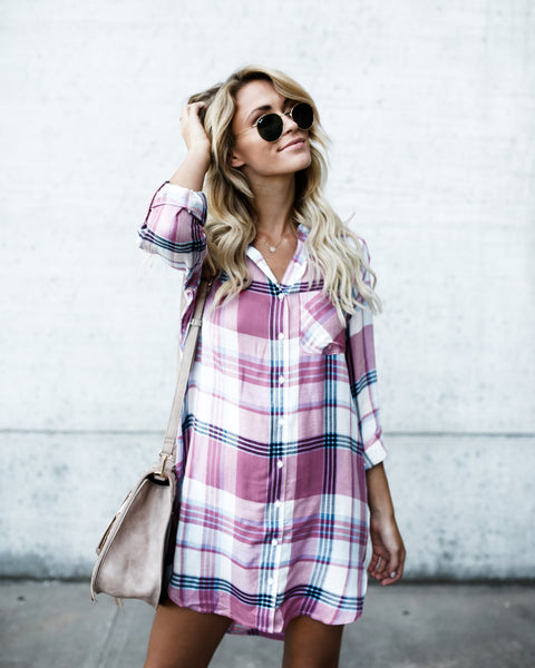 Danielle Plaid Dress