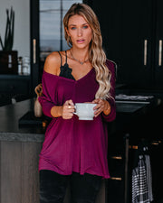 Elliot Knit Long Sleeve Top - Magenta