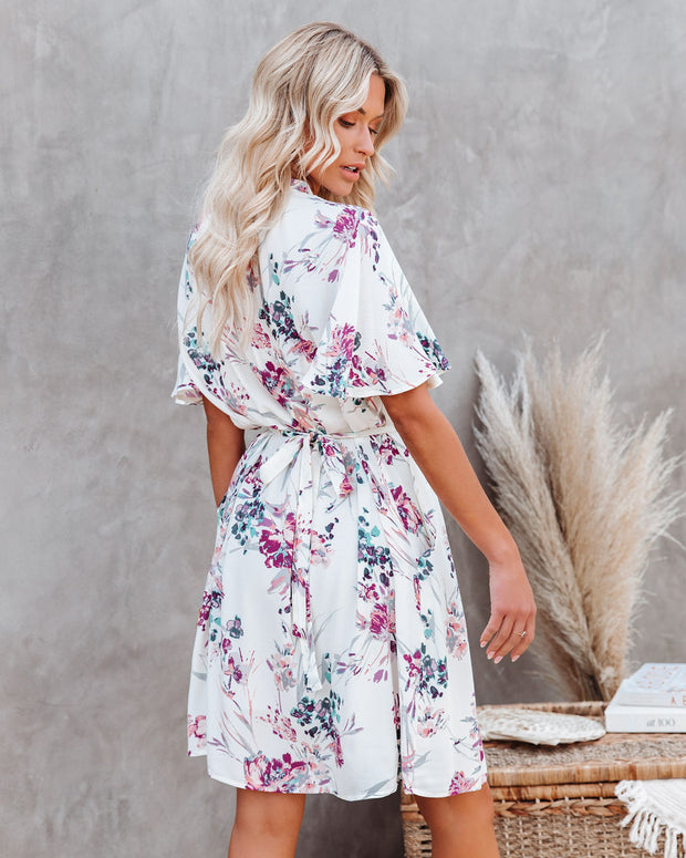 Ellyn Floral Pocketed Tie Back Dress view 2