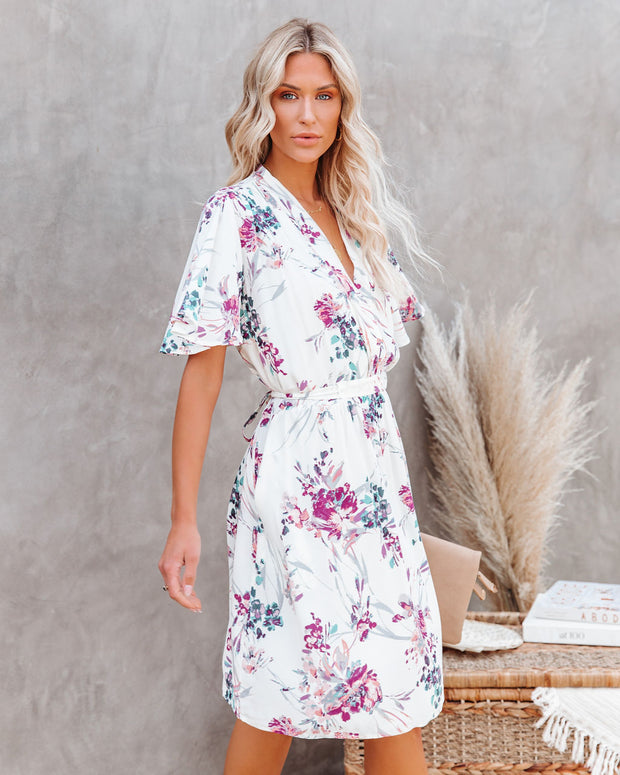 Ellyn Floral Pocketed Tie Back Dress view 3
