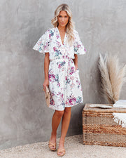 Ellyn Floral Pocketed Tie Back Dress view 5