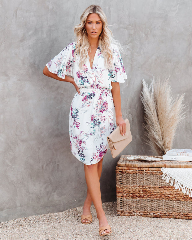 Ellyn Floral Pocketed Tie Back Dress view 1