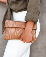Eloise Snake Embossed Crossbody Clutch view 5