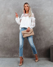 Jenna Embroidered Lace Blouse