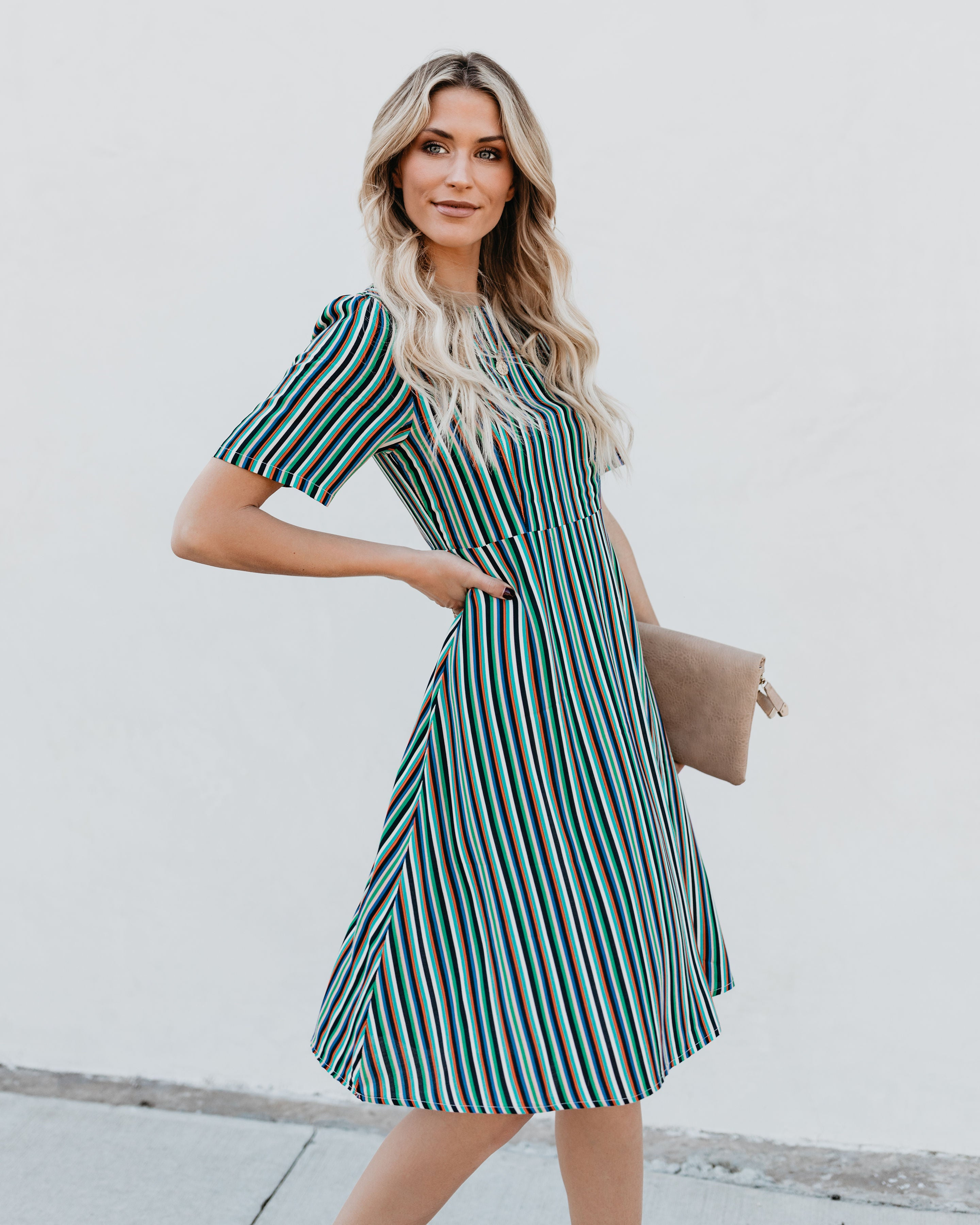 a9618482512 Enthusiastic Striped Midi Dress - FINAL SALE – VICI