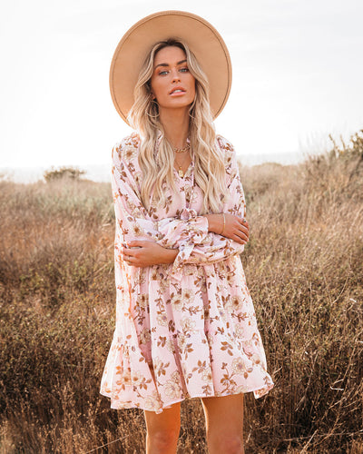 Entirely You Floral Tiered Babydoll Dress