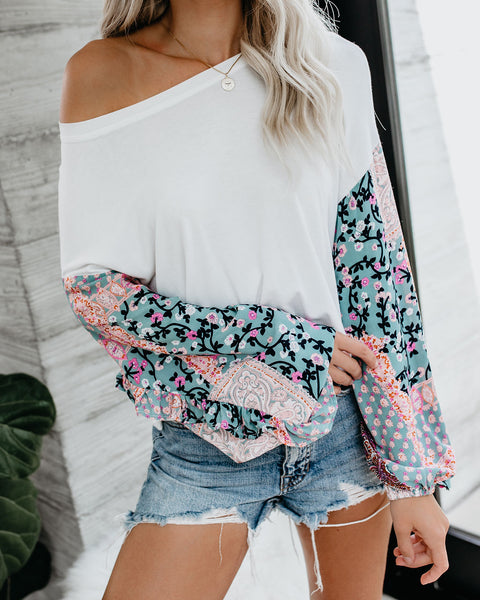 Epiphany Paisley Contrast Top