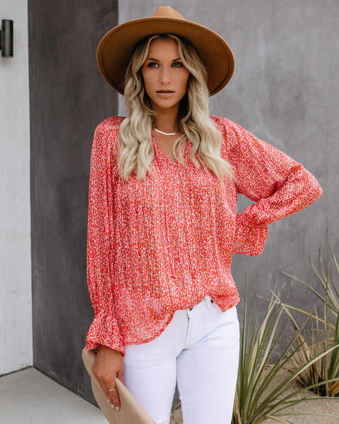 Equinox Printed Shimmer Blouse - FINAL SALE