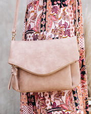 Erin Faux Leather Crossbody Bag - Almond view 3