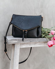 Erin Faux Leather Crossbody Bag - Black view 1