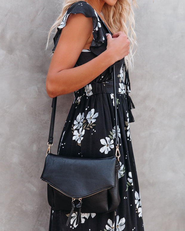 Erin Faux Leather Crossbody Bag - Black view 2