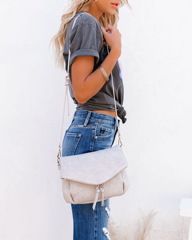 Erin Faux Leather Crossbody Bag - Grey view 2