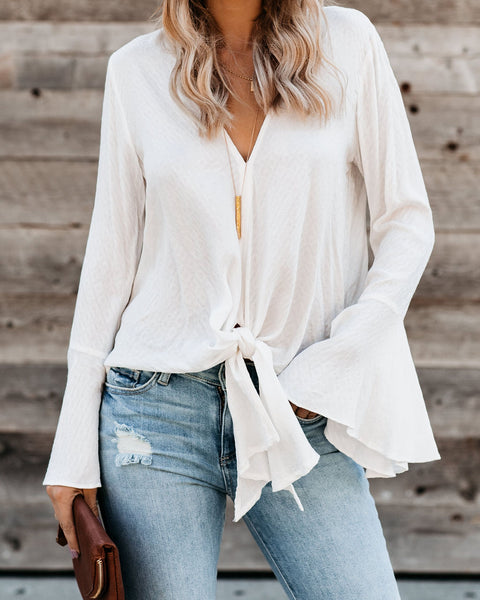Esmerelda Tie Top - Off White - FINAL SALE