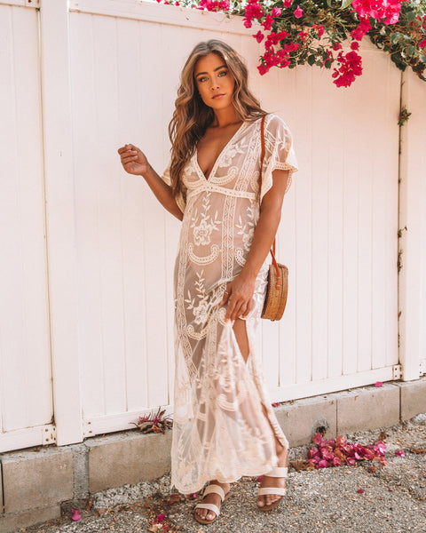 Ever After Lace Maxi Dress - FINAL SALE
