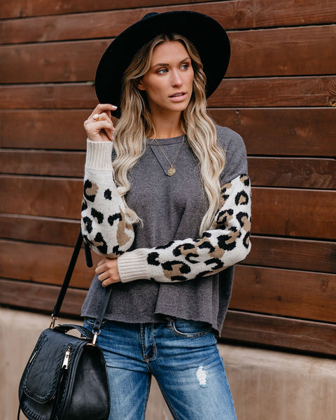 Ever Changing Contrast Leopard Pullover