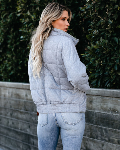 Every Mile A Memory Pocketed Quilted Jacket - FINAL SALE