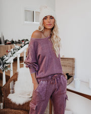 Fancy That Cotton Blend Balloon Sleeve Pullover