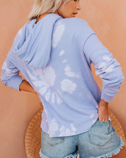 Fantasia Cotton Blend Pocketed Tie Dye Hoodie