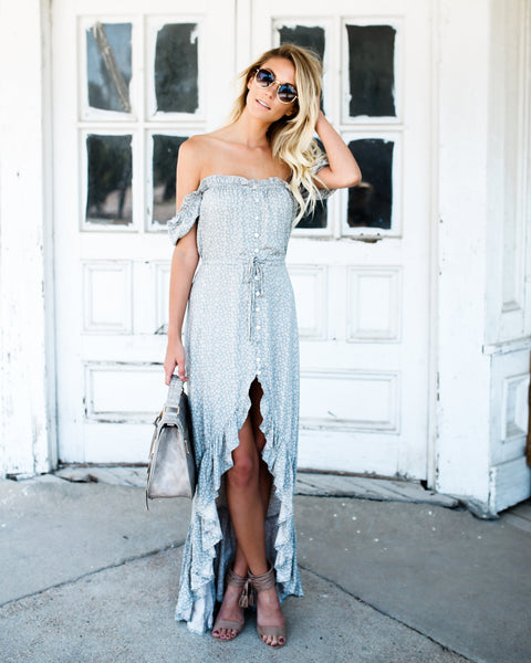 Far From Home High Low Maxi Dress