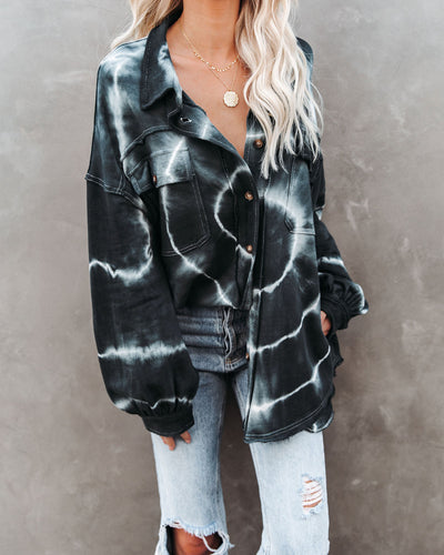 Far Out Cotton Pocketed Tie Dye Shacket