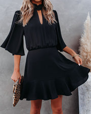 Fashion Forward Keyhole Dress - Black
