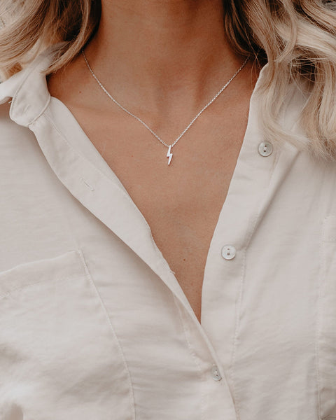 Fast As Lightning Necklace - White Gold