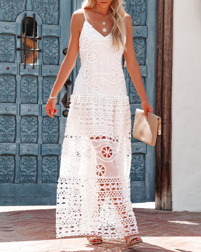 Favour Crochet Lace Maxi Dress