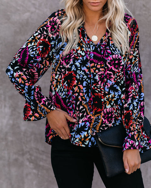 Fearless Printed Blouse - FINAL SALE