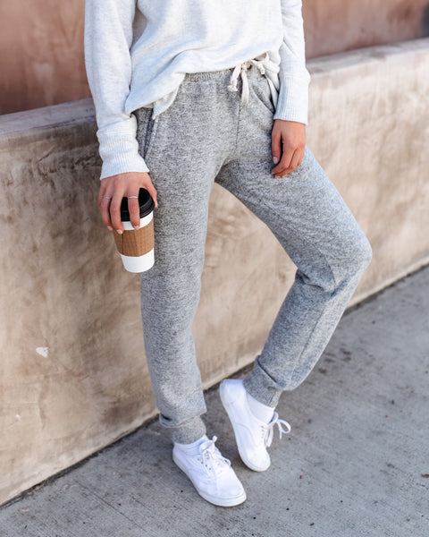 Feelin' Alright Pocketed Brushed Knit Joggers