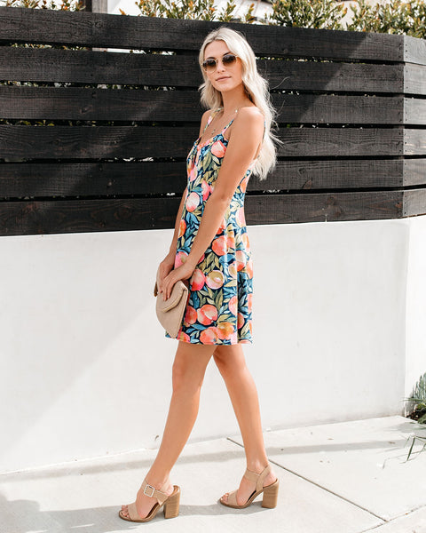 Feelin' Peachy Printed Dress