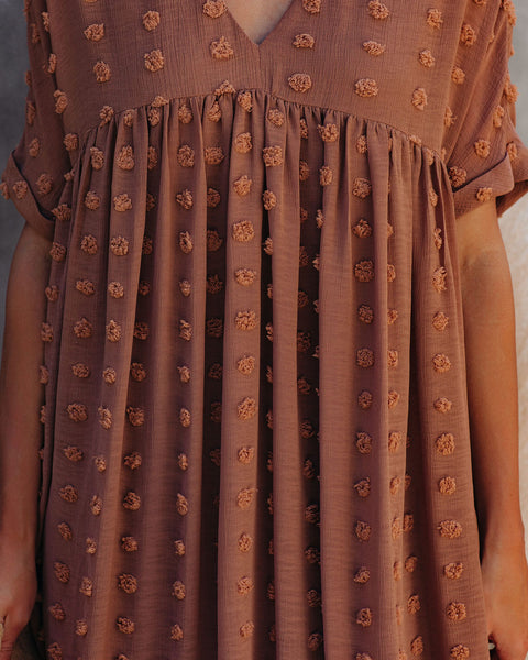 Fever Pitch Pom Babydoll Tunic - Butterscotch