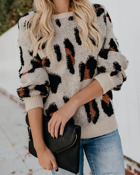 Fiercely Feline Knit Sweater