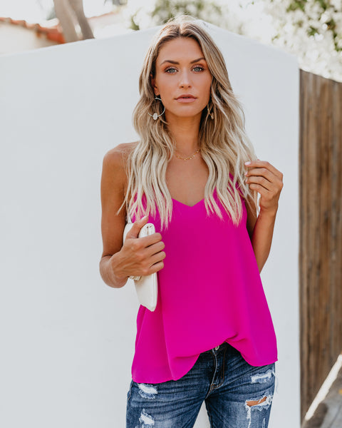 Fillmore Adjustable Tank - Fuchsia