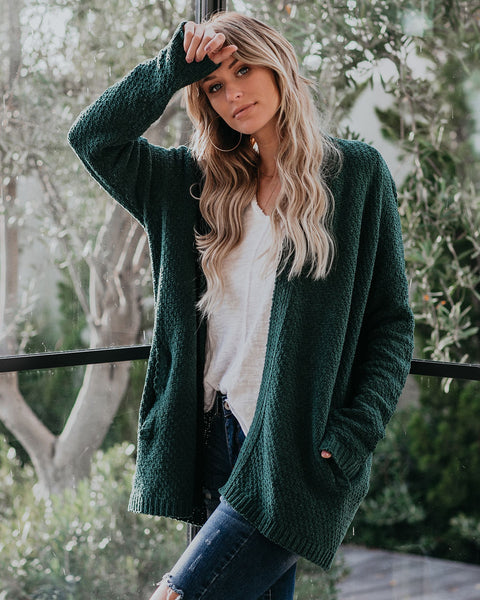 Fill Your Home Pocketed Cardigan - Pine - FINAL SALE