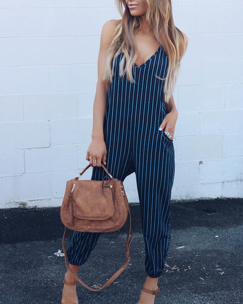 Finders Keepers Striped Jumpsuit