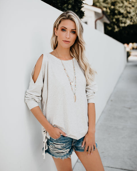 Find My Way Lace Side Knit Top
