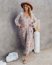 Firenze Printed Boho Maxi Dress - Baby Blue view 9