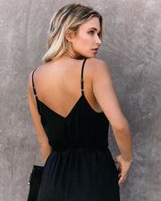 First Dibs Criss Cross Lace Pocketed Jumpsuit - FINAL SALE view 8