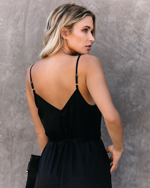 First Dibs Criss Cross Lace Pocketed Jumpsuit - FINAL SALE