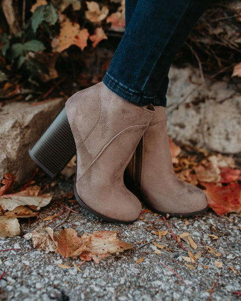Tabitha Faux Suede Bootie