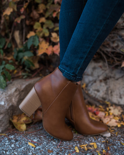 Marianne Faux Leather Bootie
