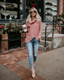 Made With Love Cotton Sweater - Blush - FLASH SALE