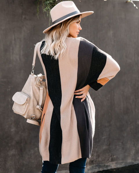 PREORDER - First Signs Of Fall Pocketed Colorblock Cardigan