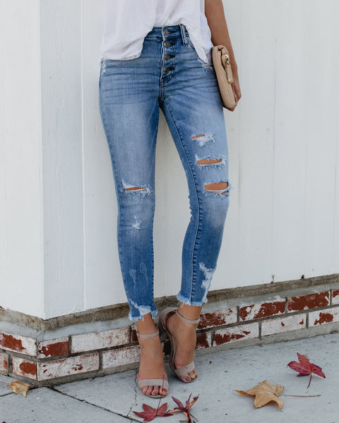Fitch Distressed Skinnies