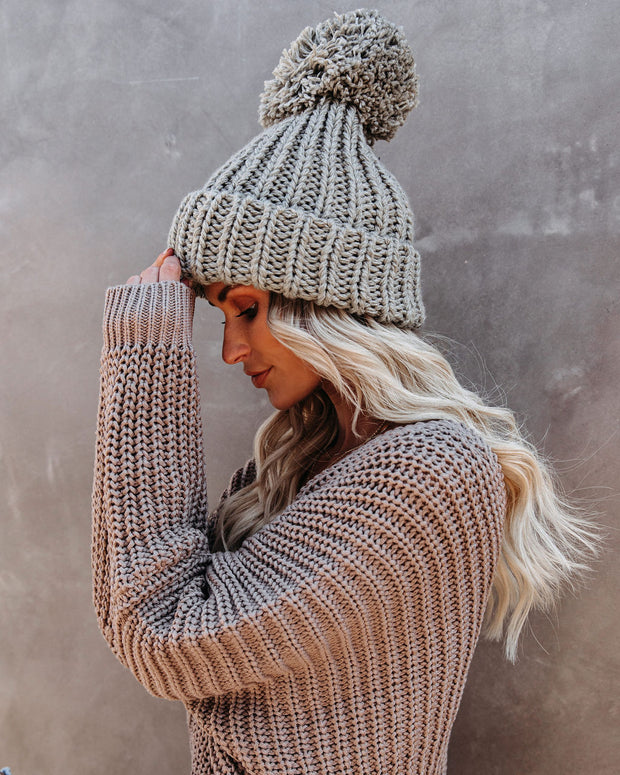 Fitch Pom Beanie - Heather Grey